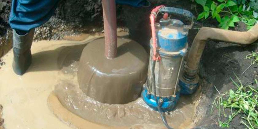 Очистка скважин от песка и ила